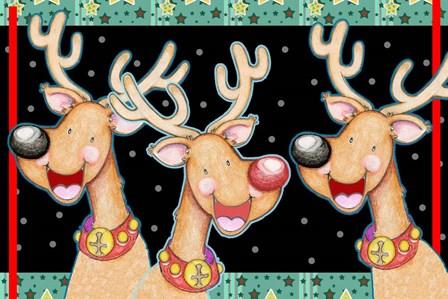 Happy Reindeer by Valarie Wade art print