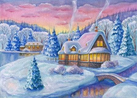 Winter Landscape by ZPR Int'l art print