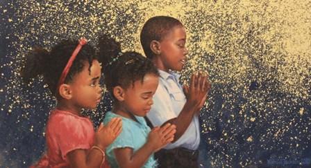Kids Praying by Michael Jackson art print