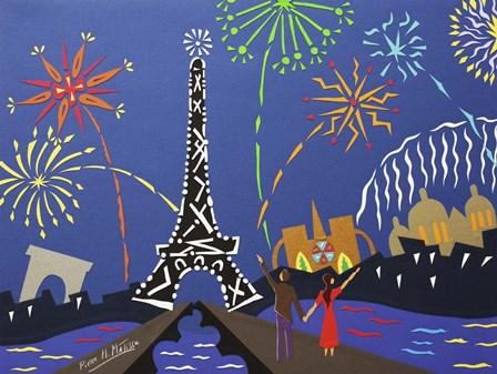 July 14th Fireworks by Pierre H. Mattise art print
