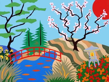 Japanese Garden by Pierre H. Mattise art print