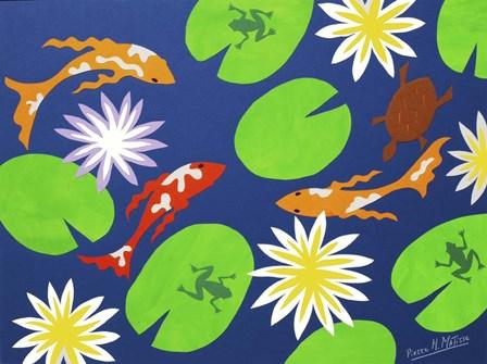 Koi Pond by Pierre H. Mattise art print