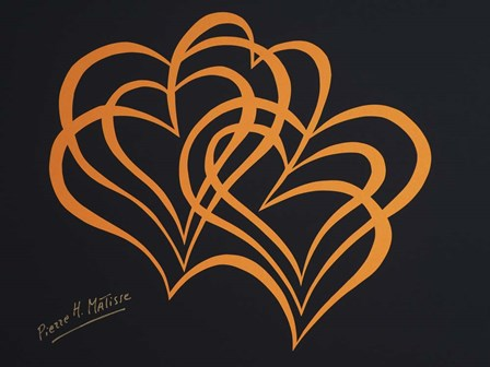 Hearts on Black by Pierre H. Mattise art print