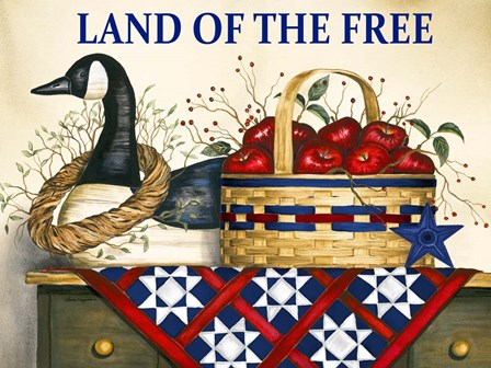 Land of the Free by Laurie Korsgaden art print