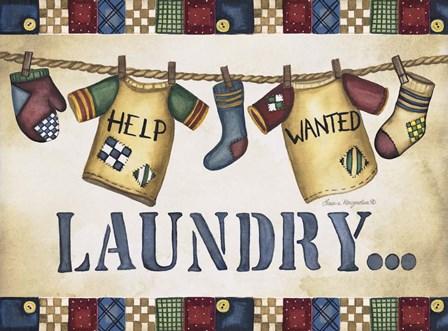 Laundry by Laurie Korsgaden art print