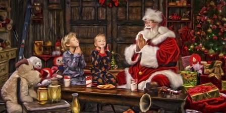 Ivey Boys Prayer by Santa's Workshop art print