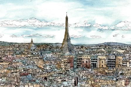 European Afternoon II by Melissa Wang art print