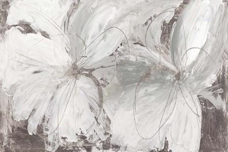 Silver Floral by Asia Jensen art print