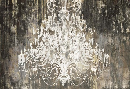 White Chandelier on Ebony by Aimee Wilson art print