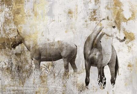 Equestrian Gold II by PI Galerie art print