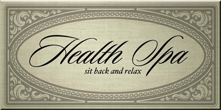 Health Spa Sit Back and Relax by Posters International Studio art print