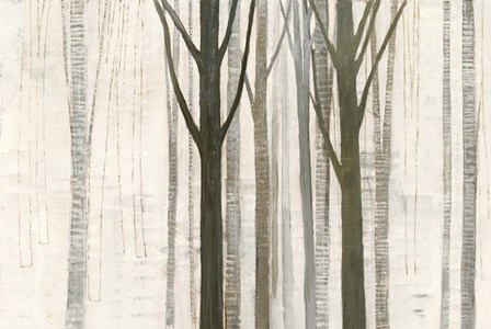 Down to the Woods on White Crop by Avery Tillmon art print