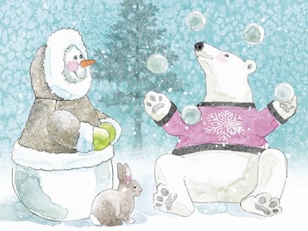 Polar Cap Friends I by Beth Grove art print