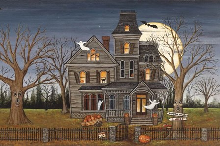 Haunted House by David Carter Brown art print