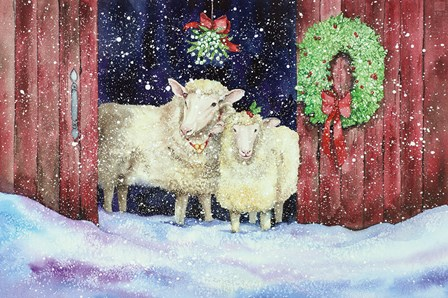 Christmas Sheep by Kathleen Parr McKenna art print