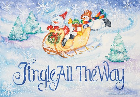 Jingle All the Way by Kathleen Parr McKenna art print
