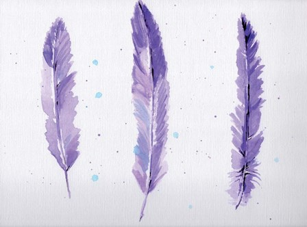 Lavender Feathers by Anne Seay art print