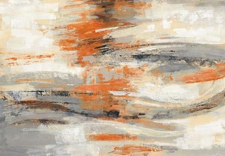 Golden Dust Crop Orange by Silvia Vassileva art print