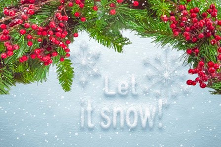 Let It Snow by Ramona Murdock art print