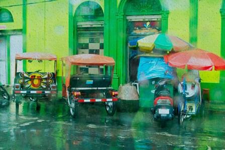 Rainy Day Iquitos Peru by Ramona Murdock art print