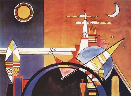 La Grande Piazza a Kiev by Wassily Kandinsky art print