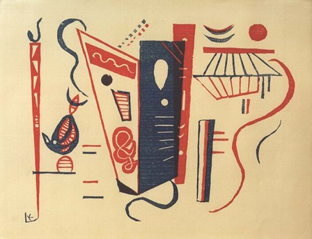 Woodcut for 20th Century, 1939 by Wassily Kandinsky art print
