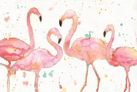 Flamingo Fever I by Anne Tavoletti art print