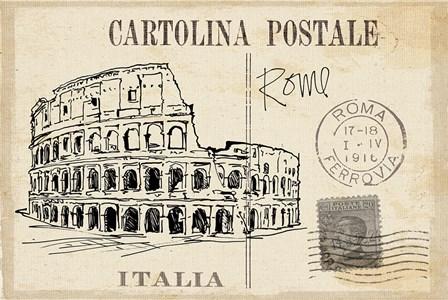 Postcard Sketches III v2 by Anne Tavoletti art print