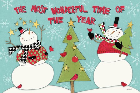 Snowman Sentiments I by Anne Tavoletti art print