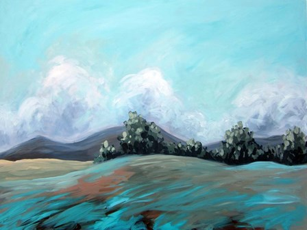 Turquoise Landscape by Kristina Wentzell art print