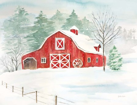 Winter Farmhouse by Cynthia Coulter art print