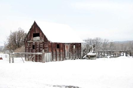 Winter Barn Landscape by Lu Anne Tyrrell art print