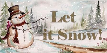 Let it Snow by Tre Sorelle Studios art print