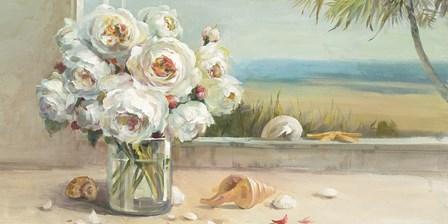 Coastal Roses Crop by Danhui Nai art print