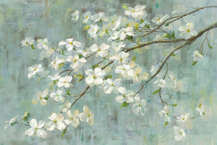 Dogwood in Spring on Blue by Danhui Nai art print