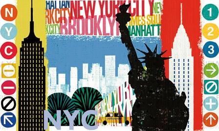 New York City Life I by Michael Mullan art print