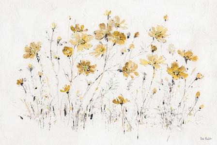 Wildflowers I Yellow by Lisa Audit art print