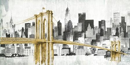 New York Skyline I Yellow Bridge no Words by Avery Tillmon art print