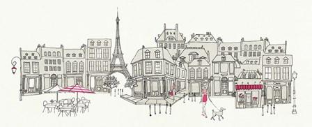 World Cafe II Paris Pink by Avery Tillmon art print