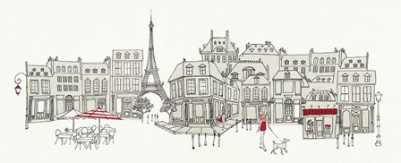World Cafe II Paris Red by Avery Tillmon art print