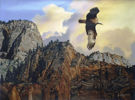 Golden Eagle by D. Rusty Rust art print
