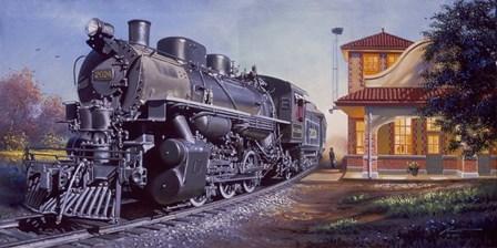Train Station by D. Rusty Rust art print