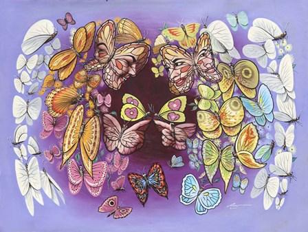 Garden Angels by D. Rusty Rust art print