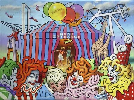 Circus Maze by D. Rusty Rust art print