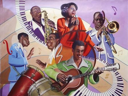 Musicians by D. Rusty Rust art print