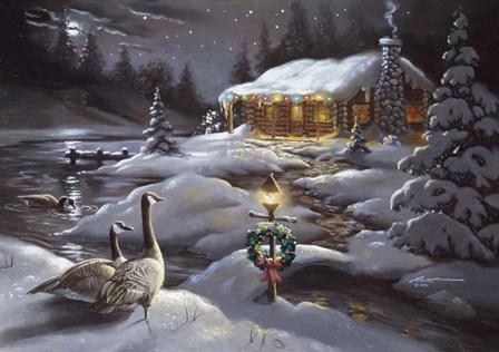 Geese by D. Rusty Rust art print
