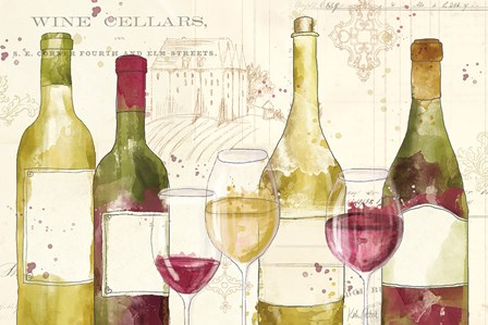 Chateau Winery I no words by Katie Pertiet art print