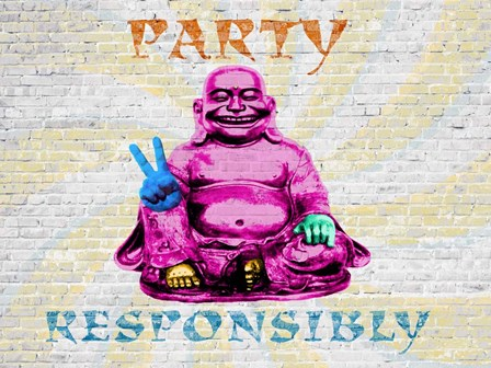 Party Responsibly by Masterfunk Collective art print