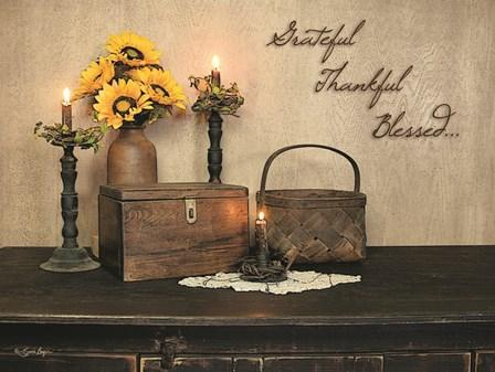 Grateful, Thankful, Blessed by Susie Boyer art print