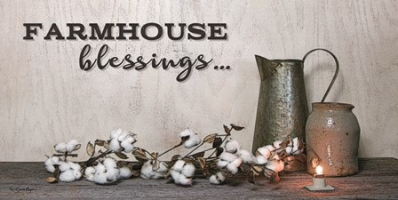 Farmhouse Blessings by Susie Boyer art print